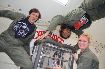 Carthage Microgravity Team participates in the 2014 Flight Opportunities Program.