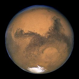 A photo of Mars.