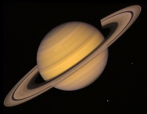 Saturn's rings consist of ice chunks, countless molecules, rock chunks, and space dust. They are ...